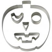 Halloween udstikkersæt med græskar hoved