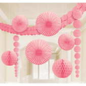 Pink Damask dekorationssæt