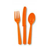 Plastik bestik - orange
