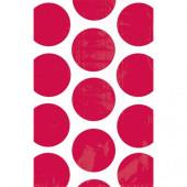 Rød prikkede godteposer