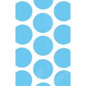 Blå prikkede godteposer