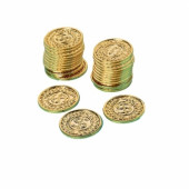 Guld spille mønter - Pirat børnefødselsdag