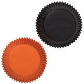 Sorte og orange cupcake forme