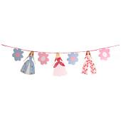 Prinsesse guirlande til børnefødselsdagen