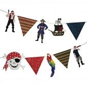 Piratguirlande til piratfest og børnefødselsdag til drenge
