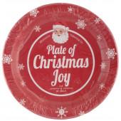 jule paptallerkner, paptallerkener, engangsservice til julefrokost og julebord - christmas cheer