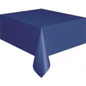 Mørkeblå plastik dug