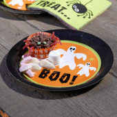 Happy Halloween paptallerkener og engangsservice