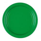 Grønne paptallerkner