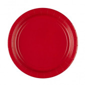 Røde paptallerkner