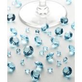 Bord krystaller - aqua