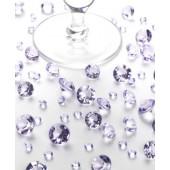 Bord krystaller - lilla