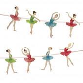 Ballerina guirlande og pynt til ballet tema