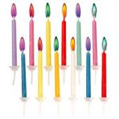 Fødselsdagslys i farver