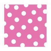 Pink servietter med hvide prikker
