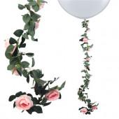 Blomster guirlande - fersken farve