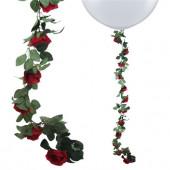 Blomster guirlande - røde roser