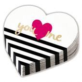 Everyday Love servietter formet som hjerte