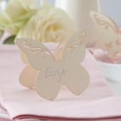 Elfenben sommerfugle bordkort