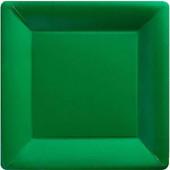 Firkantet grønne paptallerkner