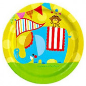Fisher Price Cirkus paptallerkner