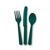 Plastik bestik - Mørke grøn