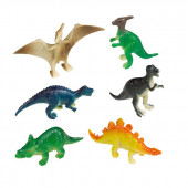 8 mini Happy Dinosaur figurer