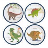 Happy Dinosaur paptallerkner