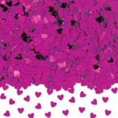 Konfetti med hjerter - pink
