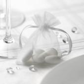 Hvide organzaposer og risposer til bryllup