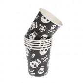 Pirat papkrus med dødningehoveder