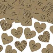 Papir hjerte med tekst