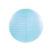 Rispapirlampe sky blå - 25 cm