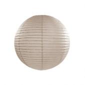 Rispapirlampe grå - 25 cm