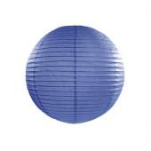 Rispapirlampe marine blå - 25 cm