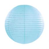 Rispapirlampe sky blå - 35 cm