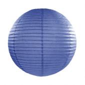 Rispapirlampe marine blå - 35 cm