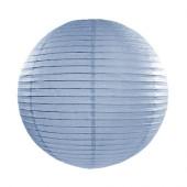 Rispapirlampe lys blå - 35 cm