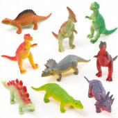 Elastisk små dinosaur figur gave til drenge til godteposer, kalendergave og pakkekalender