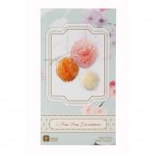 Pastel farve mix af papir pom pom'er af silkepapir - Pastel pomponer i silkepapir