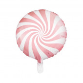 Hvid og pink folie ballon (Candy design)