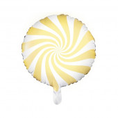 Hvid og gul folie ballon (Candy design)
