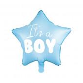 Stjerne folie ballon med teksten It's a boy