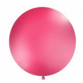 Stor ensfarvet ballon - 1m - pastel fuchsia