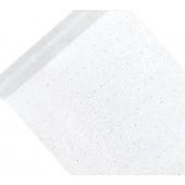 Hvid organza bordløber - sølv motiv - 48cm x 9m