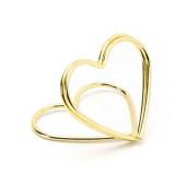 Guld farvet hjerte bordkort holder