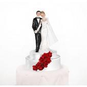 Bryllupsfigur med røde roser