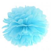 Pom pom sky-blå 35 cm