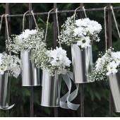 Dekorative dåser i sølv - 5 stk