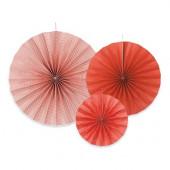 Papir rosetter i rød og hvid